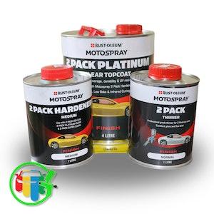Motospray 2K Platinum Clear Topcoat 7Lt Kit