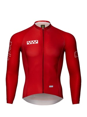 Pedla BOLD / LunaHEX L/S Jersey - Deep Red