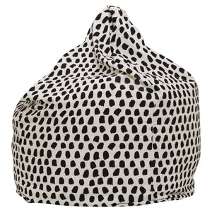 Play Pouch Splotches Bean Bag - Black & White
