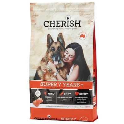CHERISH Super 7+ Years Mental Alertness & Joint Mobility Dry Dog Food - 3 Sizes