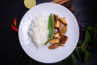 Zen Tea Lounge Vegan Teriyaki Chicken