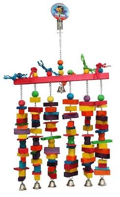 Cheeky Bird Jumbo 6 Stack With Bells B0890