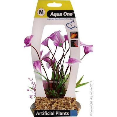 Aqua One Plastic Plant - Yellow Villarsia with Gravel Base