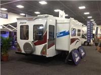 New Jayco 5th wheeler slides out more space at Adelaide Caravan and  Camping Show