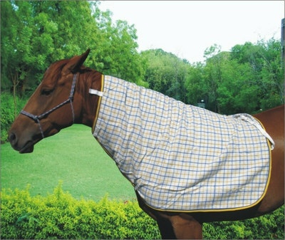 Capriole Equestrian Collar Check Wool Neck Rug