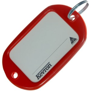 Kevron ID10 Jumbo Motel Key Tag 12 Pack - Red
