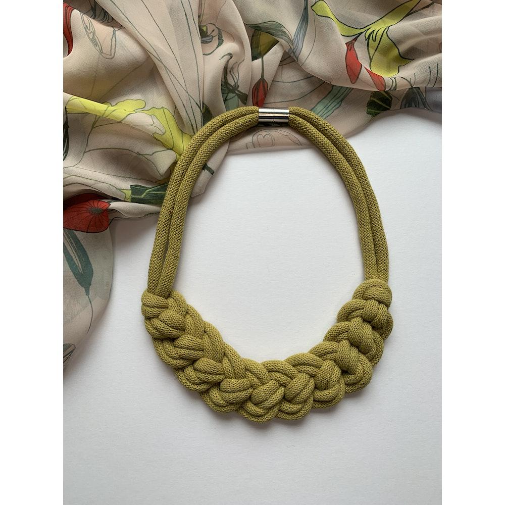 Form Norfolk Loop Knot Necklace In Avocado Green