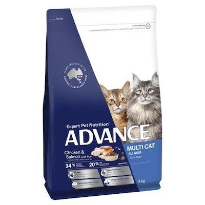 Advance Dry Cat Food Multi Chicken & Salmon 3kg