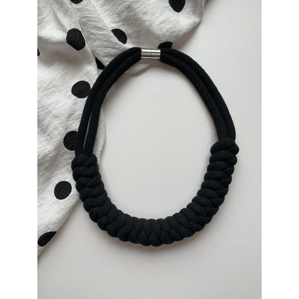 Form Norfolk Snake Knot Necklace In Midnight Black