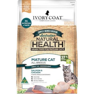IVORY COAT Grain Free Mature Ocean Fish & Chicken Dry Cat Food