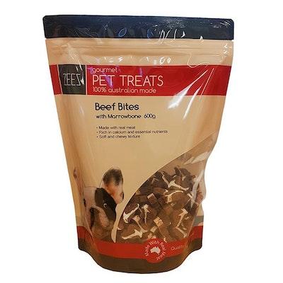 Zeez Gourmet Pet Treats Beef Bites w/ Marrowbone 600g