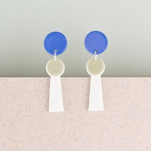 ERIN LIGHTFOOT - Small Porcelain Tassel BLUE & WHITE