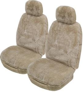 Alpine Sheepskin Seat Covers 25Mm (Pair) Airbag Safe | Mocha