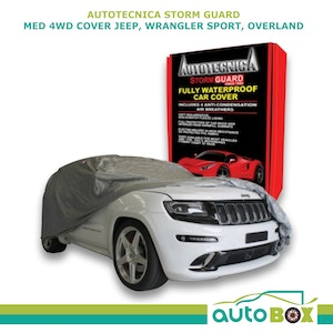 4WD Car Cover Stormguard Waterproof Med to 4.5M Jeep Wrangler Sport Overland