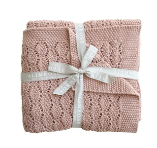 Alimrose - Organic Heritage Knit Baby Blanket - Blossom