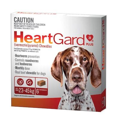 Heartgard Plus Brown 23-45kg Large 6 Pack