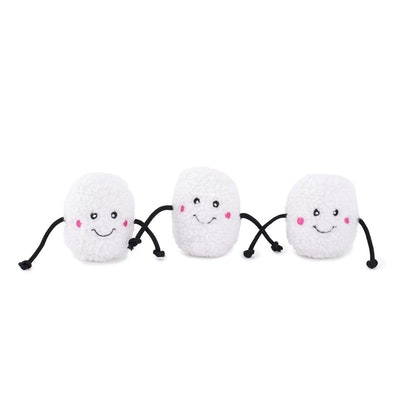 Zippy Paws Christmas Holiday Miniz 3-Pack - Marshmallows