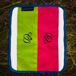 Equisafety Multi Coloured Nose Band - PINK/YELLOW