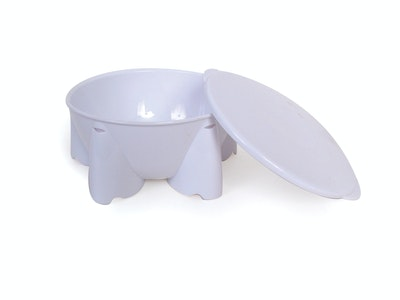Steadyco Lets Eat Snack Pot & Lid White