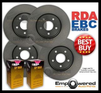 FULL SET RDA DISC BRAKE ROTORS + PADS for Honda Accord CG 3.0L V6 12/1997-1/2002