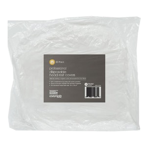 Caronlab Professional Disposable Head Rest Cover - Size 36 x 33cm (20 Pack)