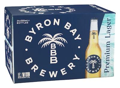 Byron Bay Brewery Premium Lager Bottle 355mL Case