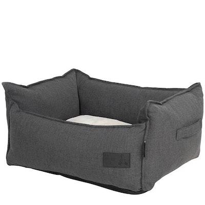 La Doggie Vita Linen Look LUXE Trim Terra (Charcoal Fleck) High Side Bed