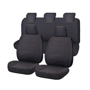 All Terrain Car Seat Covers For Ford Ranger Pxii-Pxiii Series Dual Cab Utility 2015-2020 | Charcoal