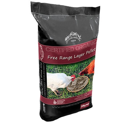 Country Heritage Organic Free Range Layer Pellets Chicken Feed 20kg