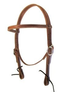 Oiled Stitched Headstall (small)