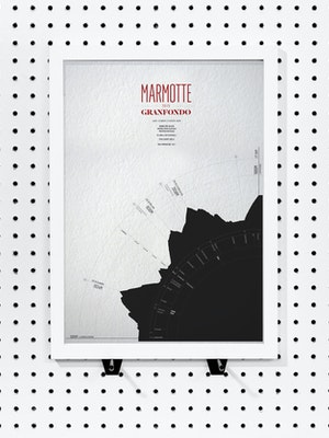 La Marmotte Gran Fondo - Personalised Data Art print by Massif Central