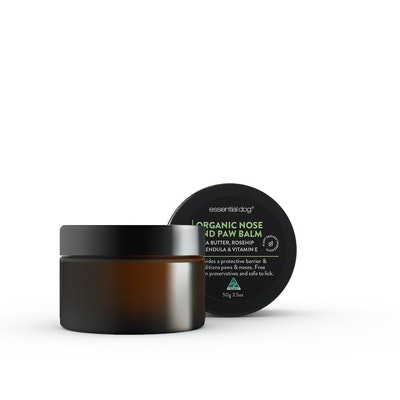 Essential Dog 50g Natural Nose and Paw Balm for Dogs (Shea Butter, Rosehip, Calendula and Vitamin E)