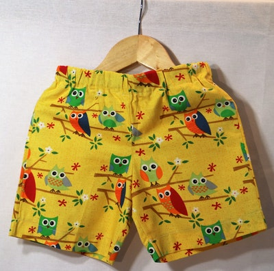 Handgrown Threads Shorts - Size 4 - Colourful Owls
