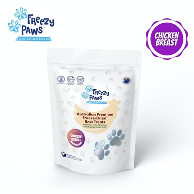 Freezy Paws Freeze-Dried Chicken Breast Raw Treats for Pet Cat Dog 100g