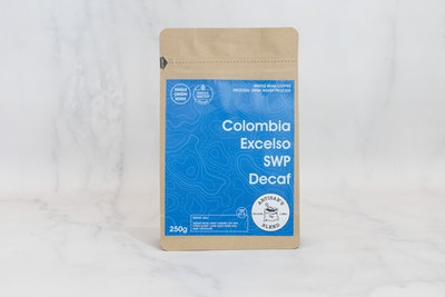Swiss Water Procress Colombia Excelso Decaf 250g