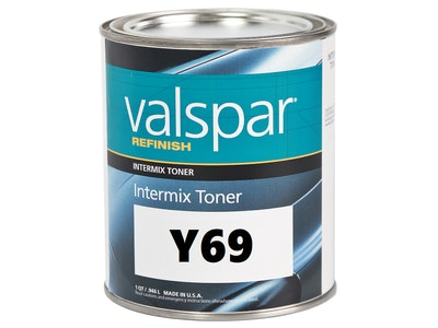 Valspar Refinish Y69 Red Shade Yellow 1Qt