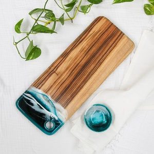 Deep Ocean - Resin Cheese Board with Bowl - Small