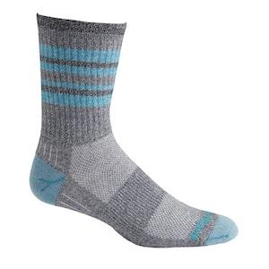 Wrightsock Blister-free Escape - Crew Socks - Turquoise Stripes