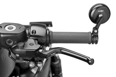 Puig Heritage Clutch Lever To Suit Various Models (Black Lever, Silver Adjuster)