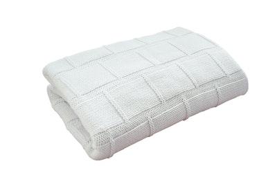 Organic Cotton Baby Blanket - WHITE