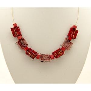 Karhina Red Folds Reborn - Necklace