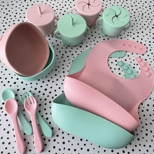Tidy Babies  Mealtime Silicone Baby Feeding Bundle Set Ultimate Pack