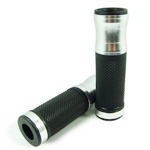 Motorcycle Alloy Hand Grips - Silver