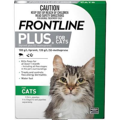 Frontline Plus Cat Green Topical Tick & Flea Control - 2 Sizes