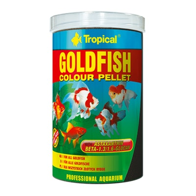 Tropical Goldfish Colour Pellets 36G