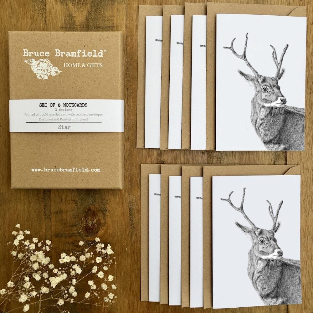 Bruce Bramfield Stag Eco Notecards Set