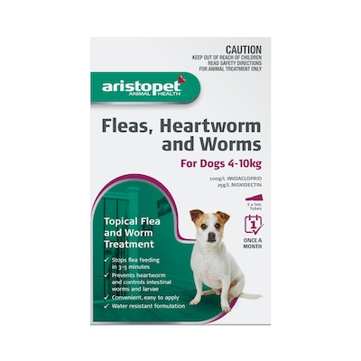Aristopet Fleas, Heartworm & Worms For Dogs 4-10kg