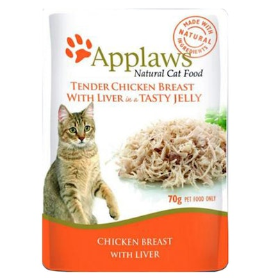Applaws Cat Food Chicken Breast With Liver In Jelly Pouch 70g 16 Pack