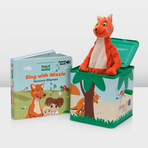 Mizzie the Kangaroo Musical Gift Set - Mizzie Sound book and Music Box