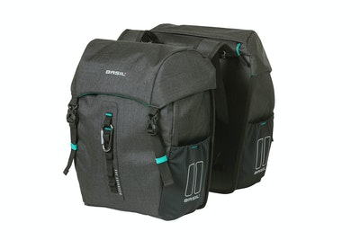 Basil Discovery Double Bag Black 18L
